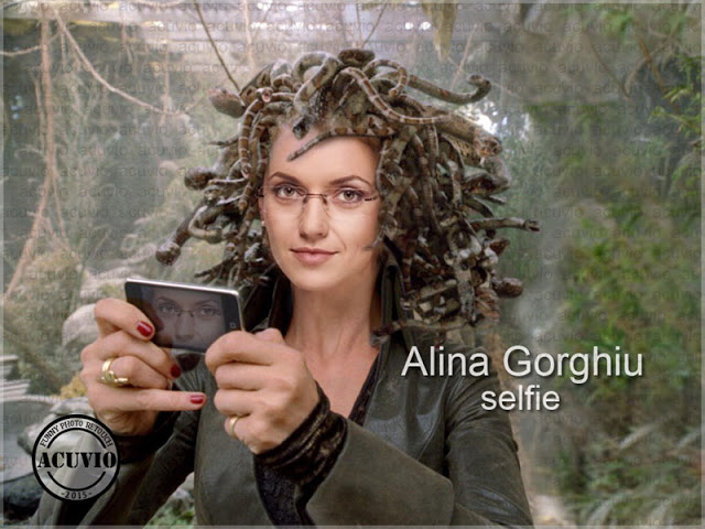 Alina Gorghiu Selfie funny photo Gorgona